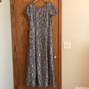 Alex Evenings Long gray gown